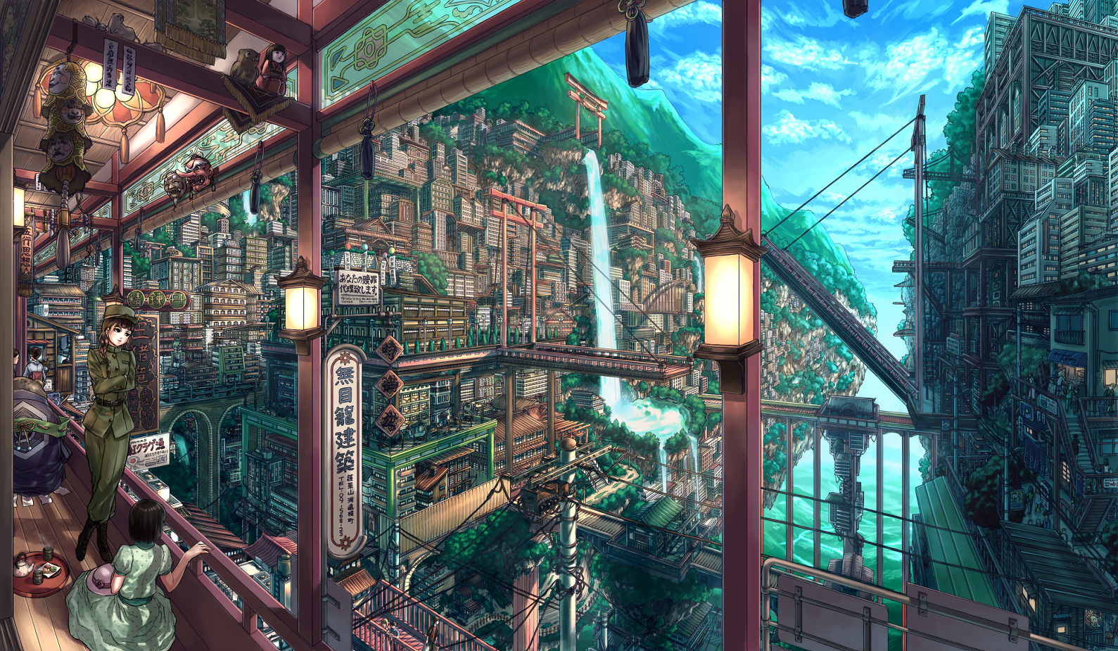 Japanese wallpapers 2 Japanese fantasy and scenic illustrations 1589x925