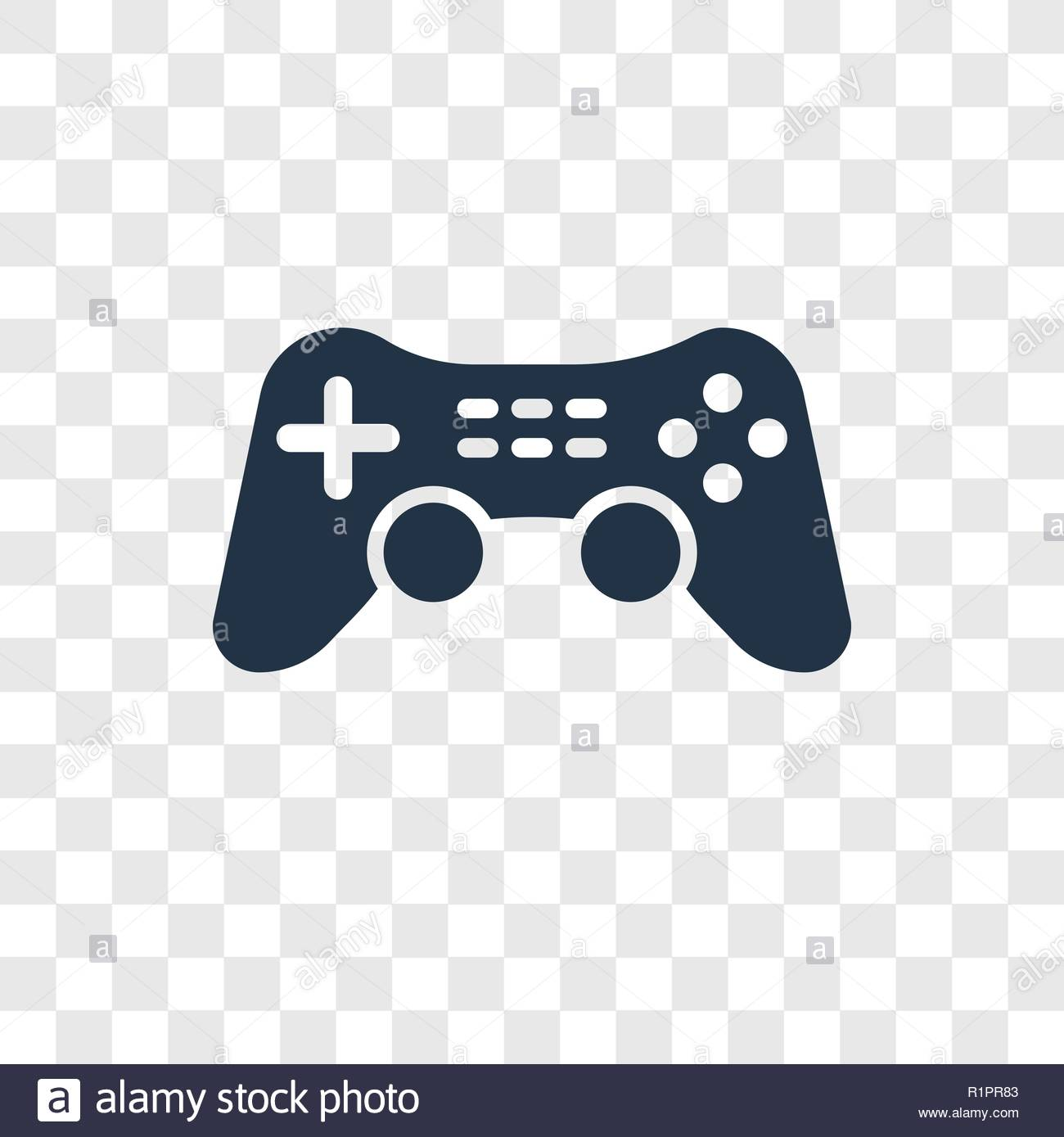 Game Controller Cross vector icon isolated on transparent 1300x1389