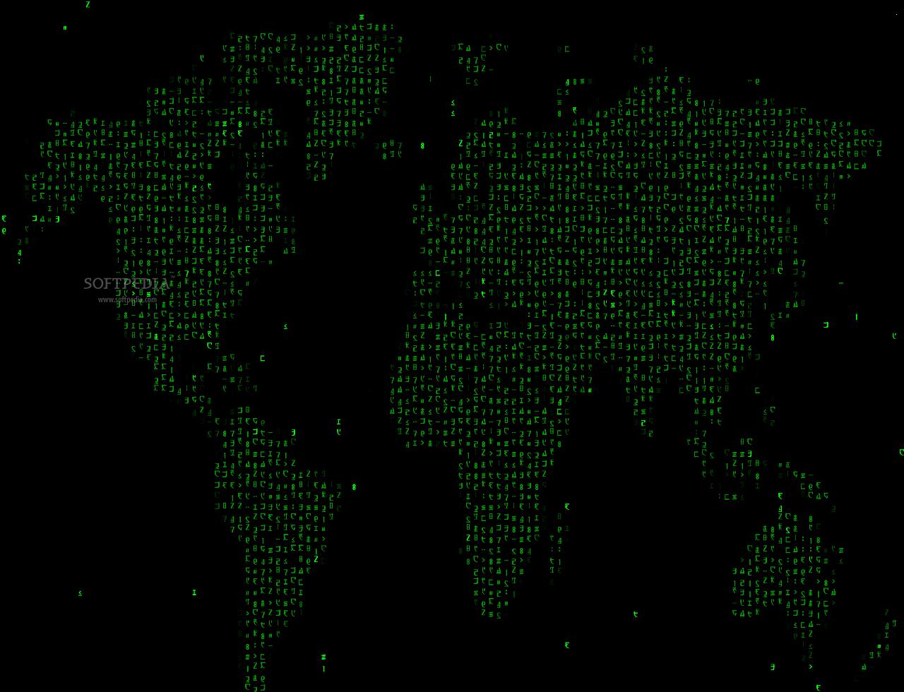 HD matrix code animated wallpaper 1280x980