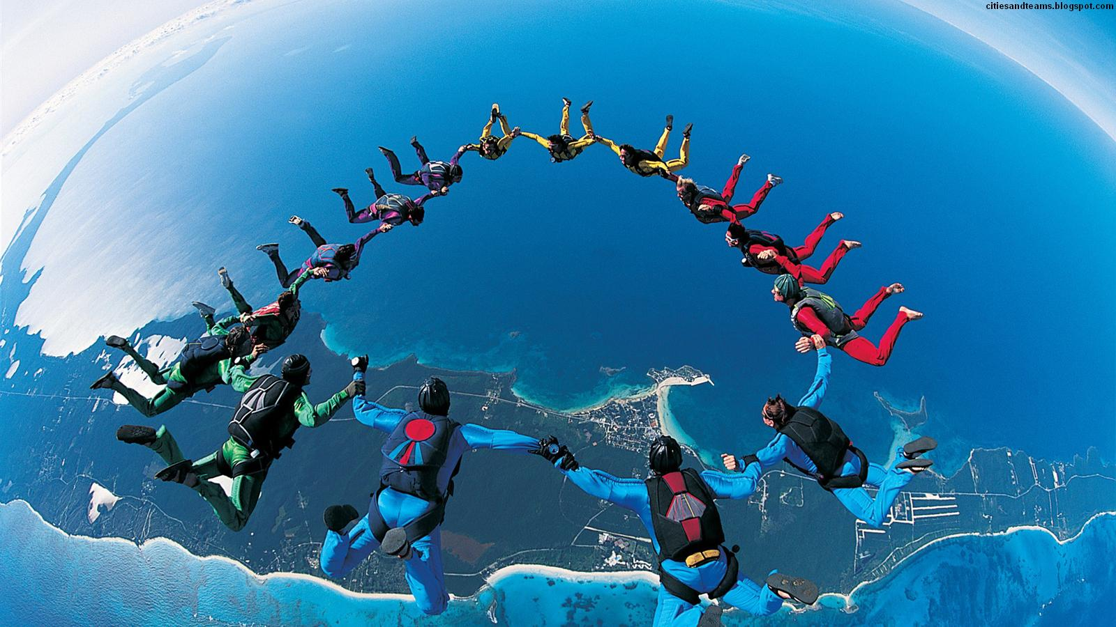 Jumping Photo Extreme Sports Amazing Atmosphere Hd Desktop Wallpaper 1600x900