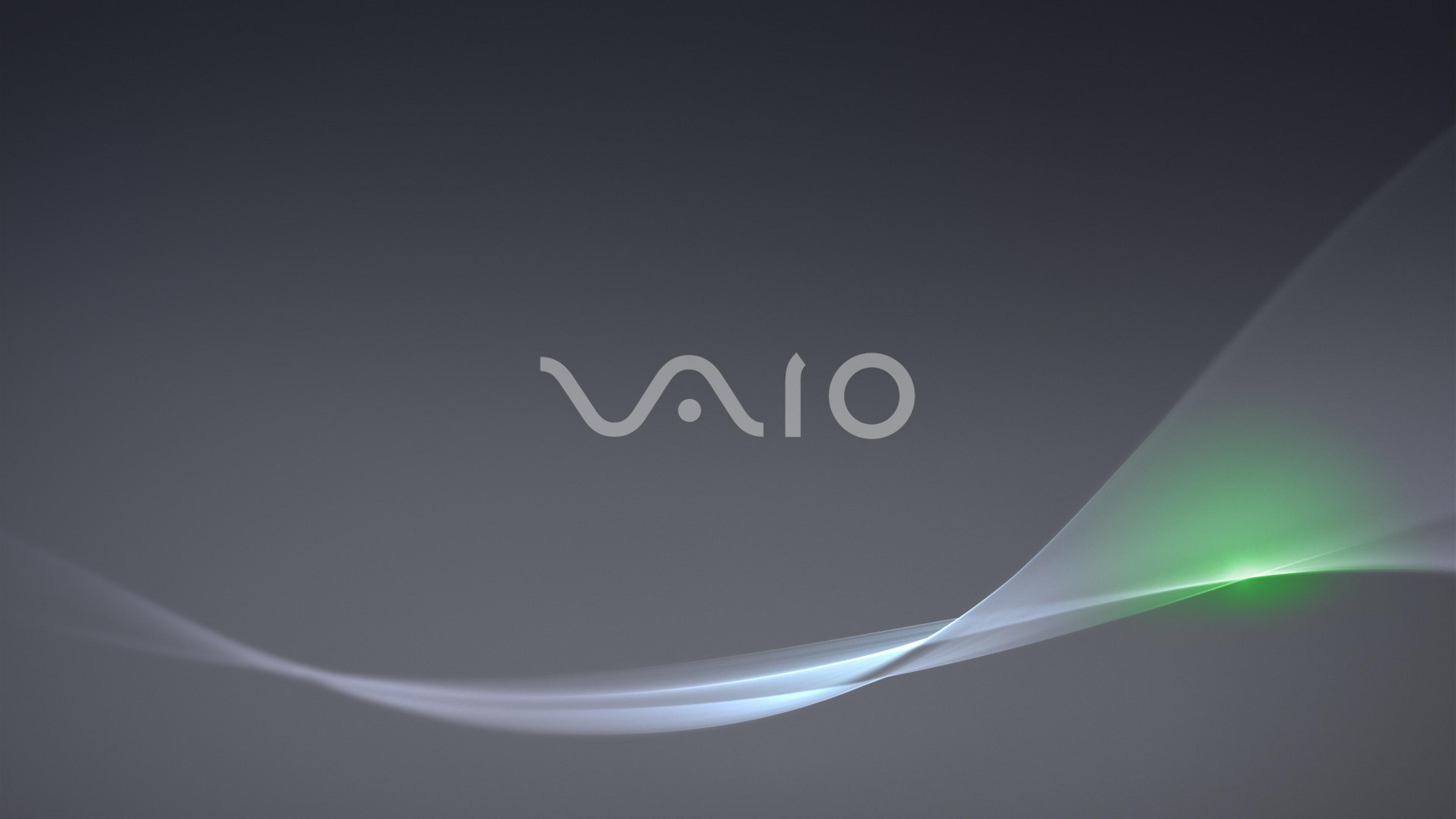 Download Wallpaper 3840x2160 vaio background hi tech logo 4K Ultra 3840x2160