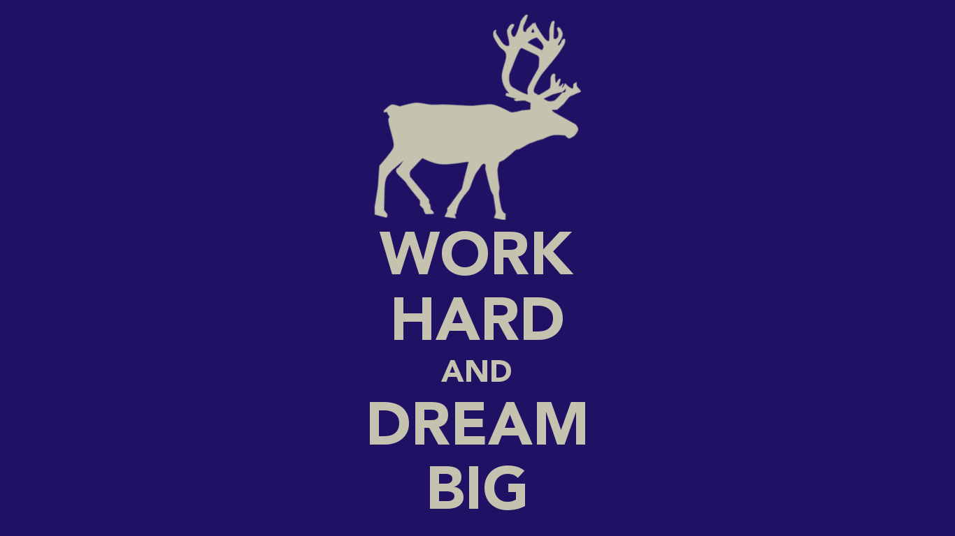 Work Hard And Dream Big Wallpaper Quote 1366x768