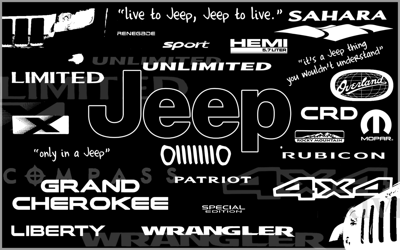 Jeep Logo HD Wallpaper For Desktop Wallpaper WallpaperMinecom 1600x1000