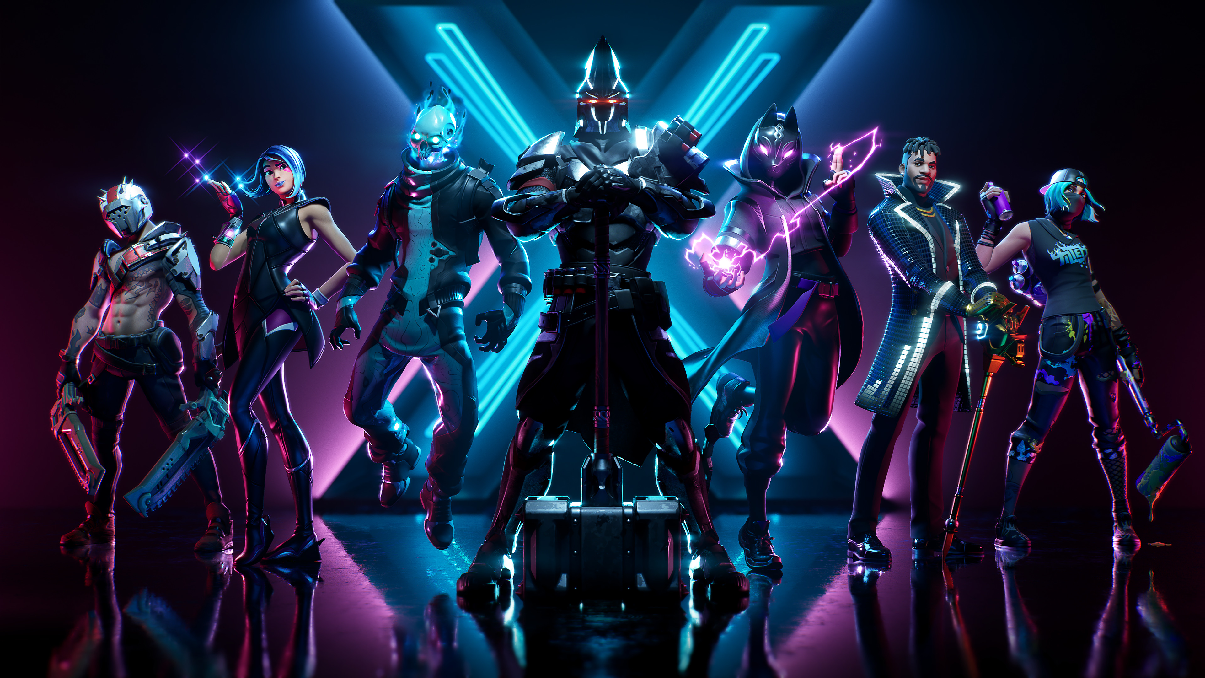 Free Download Fortnite X All Battle Pass Skins Outfits Season 10 8k Wallpaper 359 3840x2160 For Your Desktop Mobile Tablet Explore 19 Fortnite Desktop Full Screen Wallpapers Fortnite Desktop