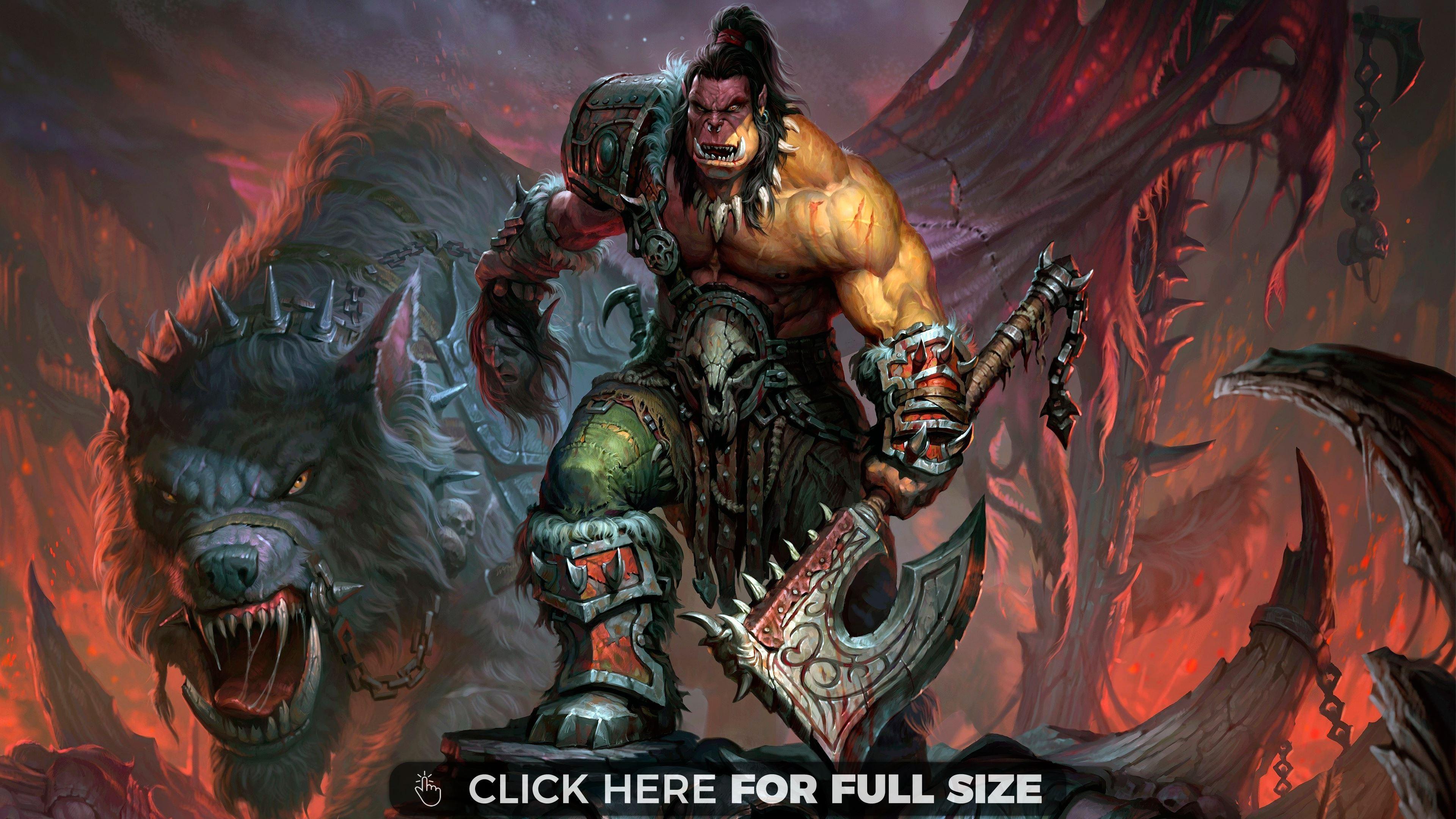 World of Warcraft Orc 4K 4K wallpaper 3840x2160