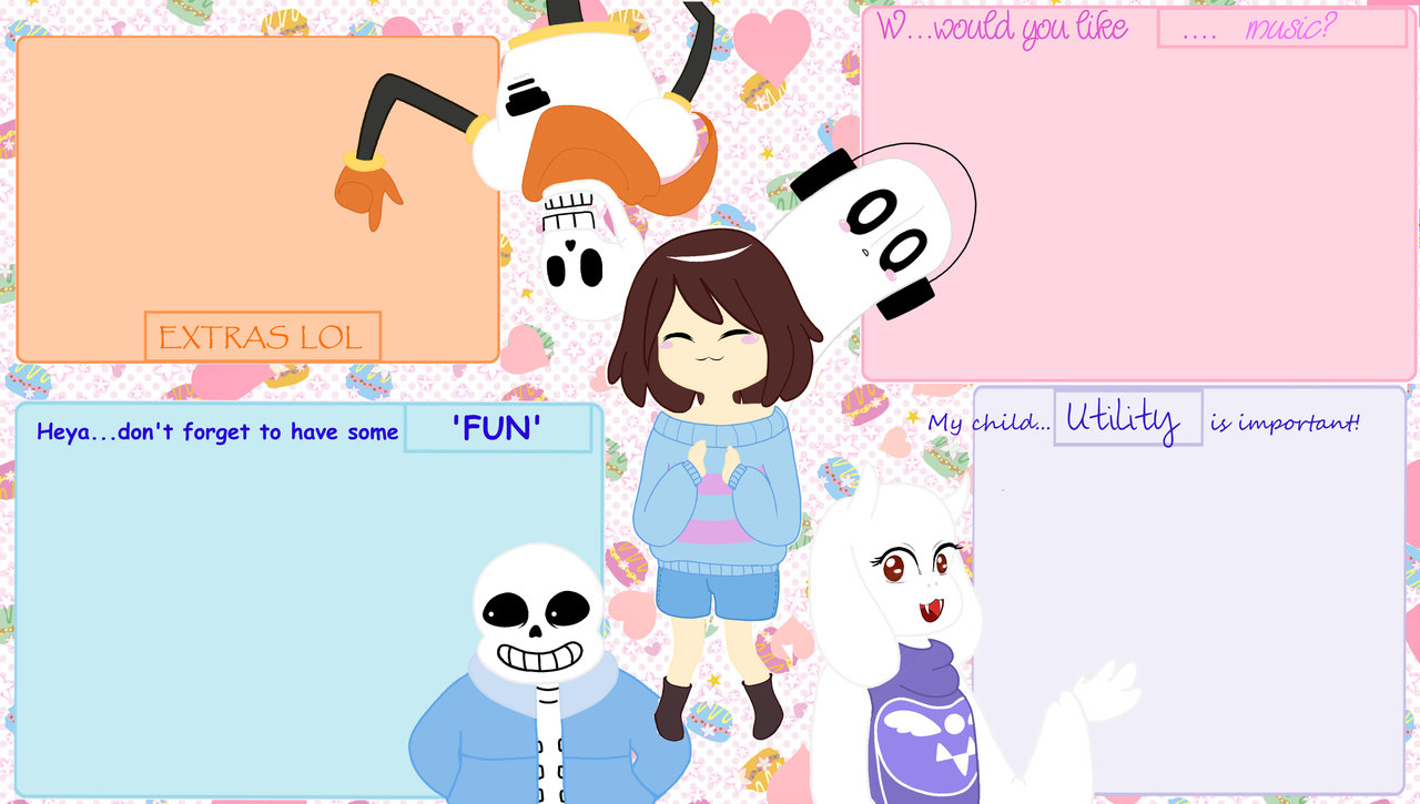 Undertale themed wallpaper by chocolateangeliza 1280x725