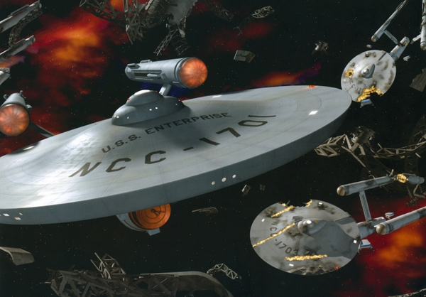 star trek uss enterprise Wallpaper 600x418