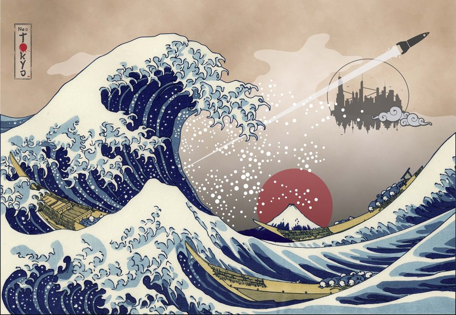 The Great Wave off Kanagawa 20 by capdevil13 900x621