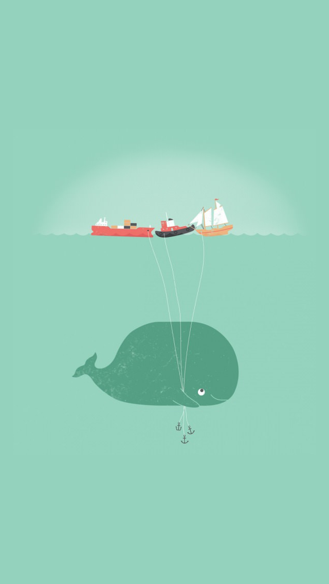 Cute Whale Wallpaper Iphone Images Pictures   Becuo 640x1136