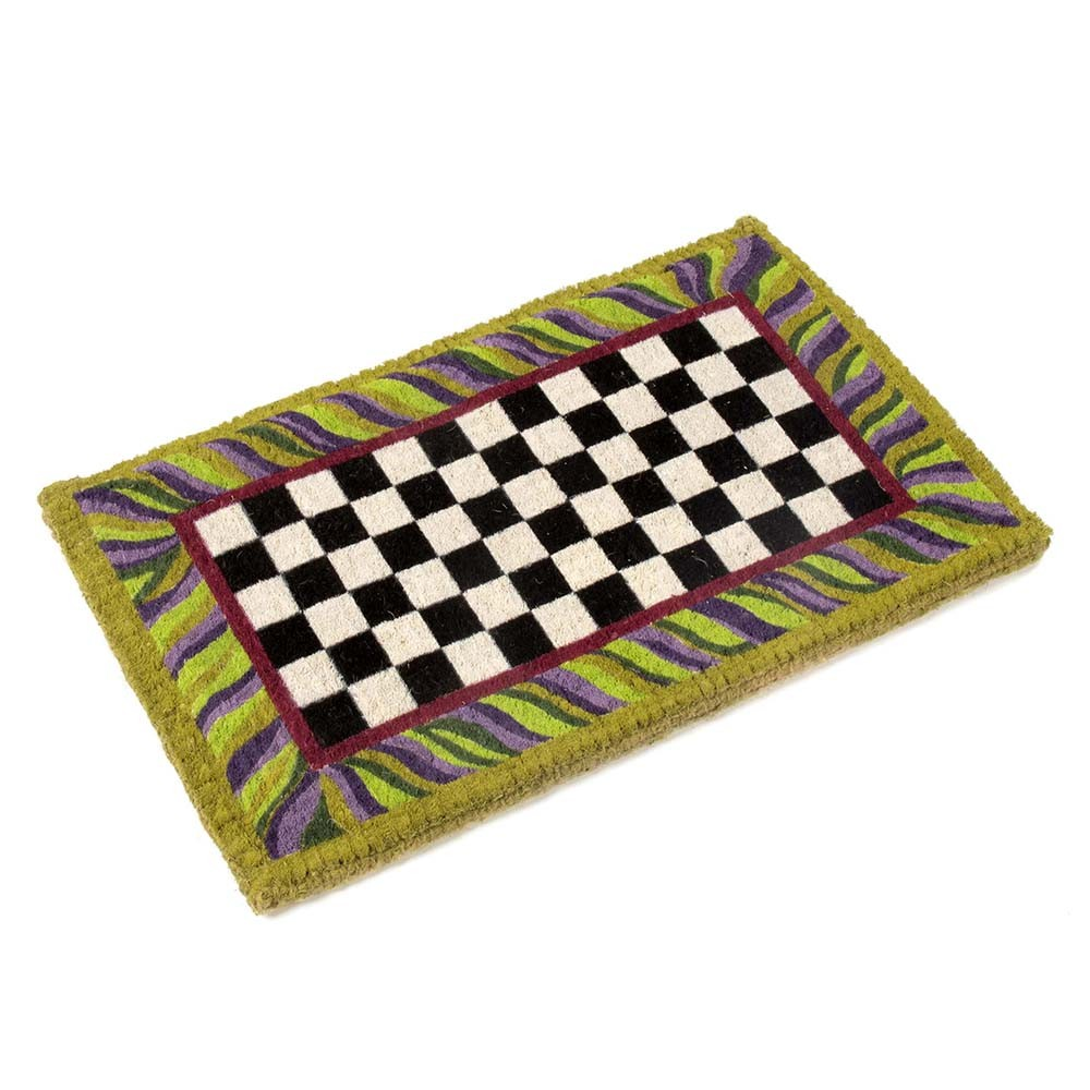 MacKenzie Childs Courtly Check Entrance Mat at Amara 1000x1000