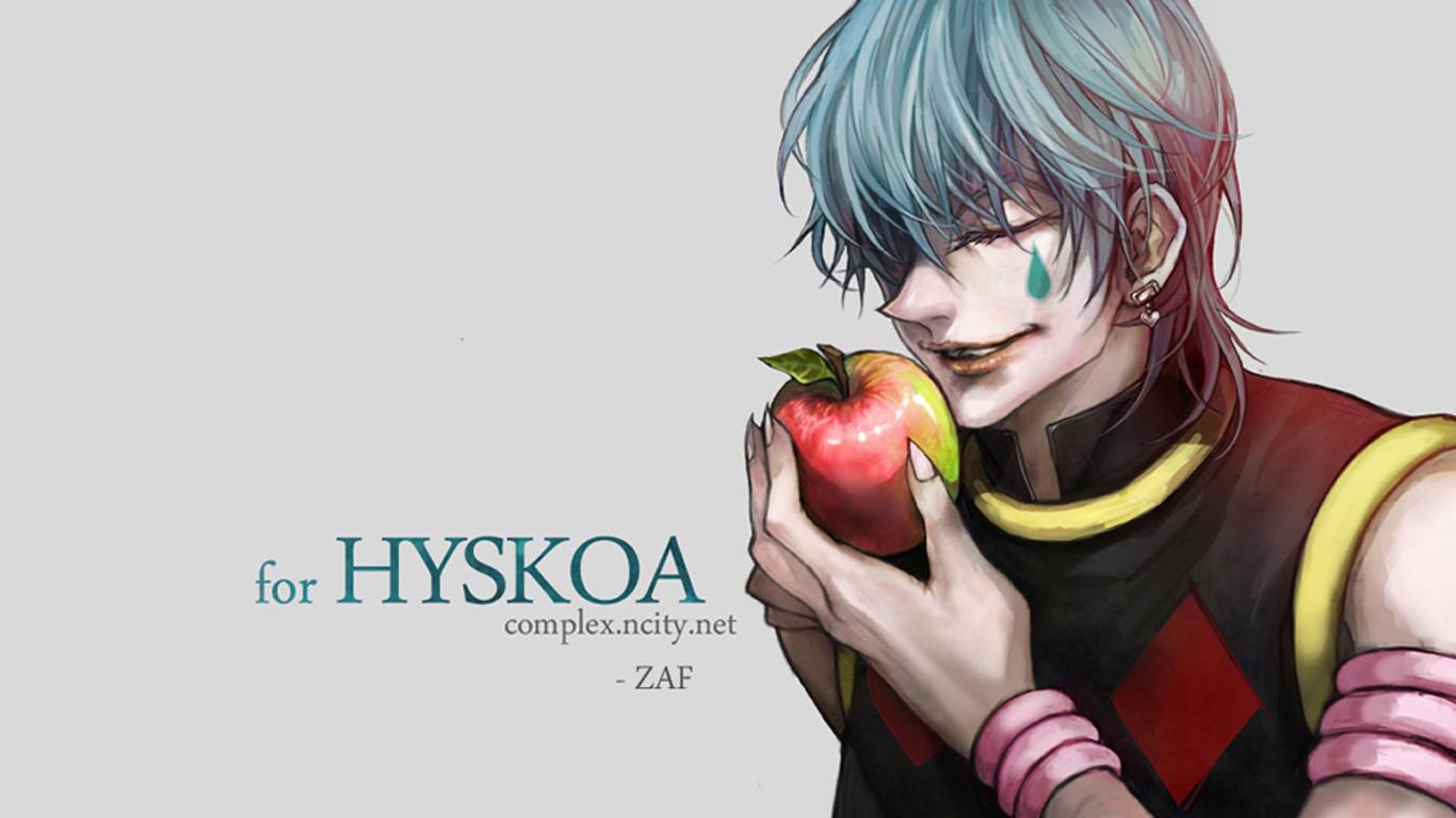 Hisoka Apple Hunter X Hunter 2011 Anime HD Wallpaper Desktop PC 1366x768