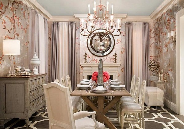Decorate dining room with wallpaper Room Decorating Ideas 600x420