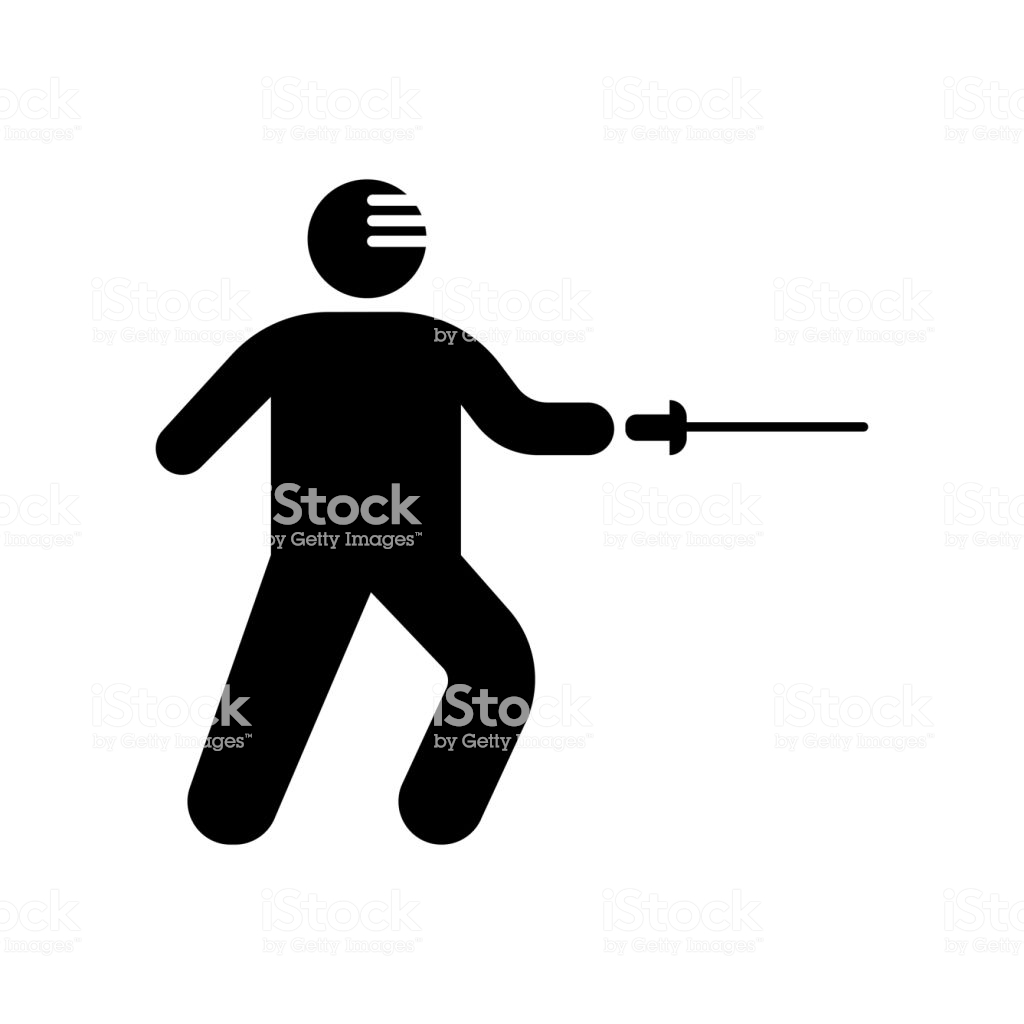 Fencing Attack Icon Vector Sign And Symbol Isolated On White 1024x1024