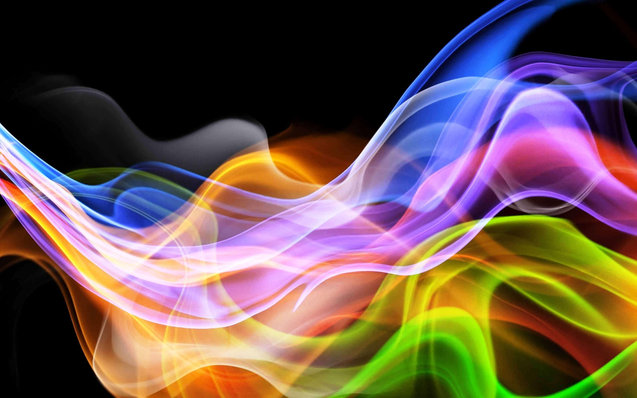 3d Abstract Colorful Smoke Wallpaper 2722 Wallpaper computer best 2560x1600