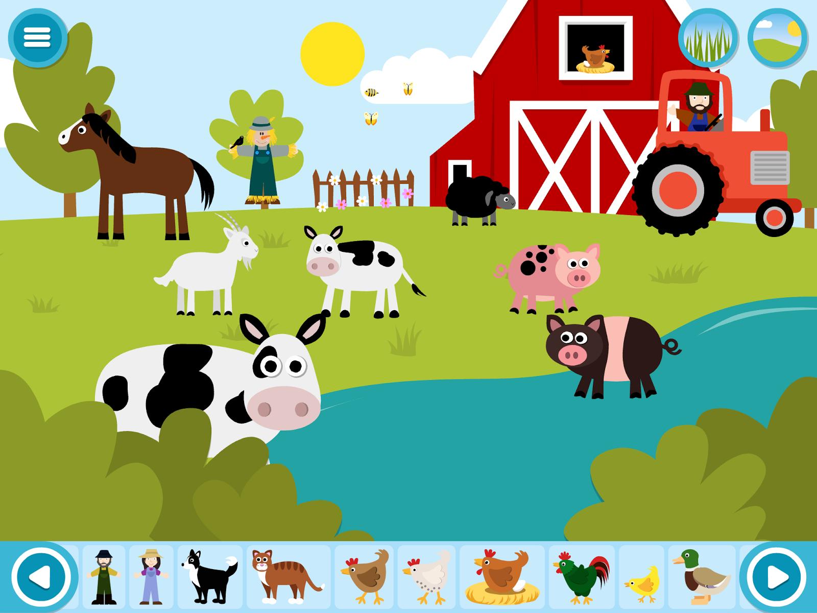 Farm Theme Wallpaper