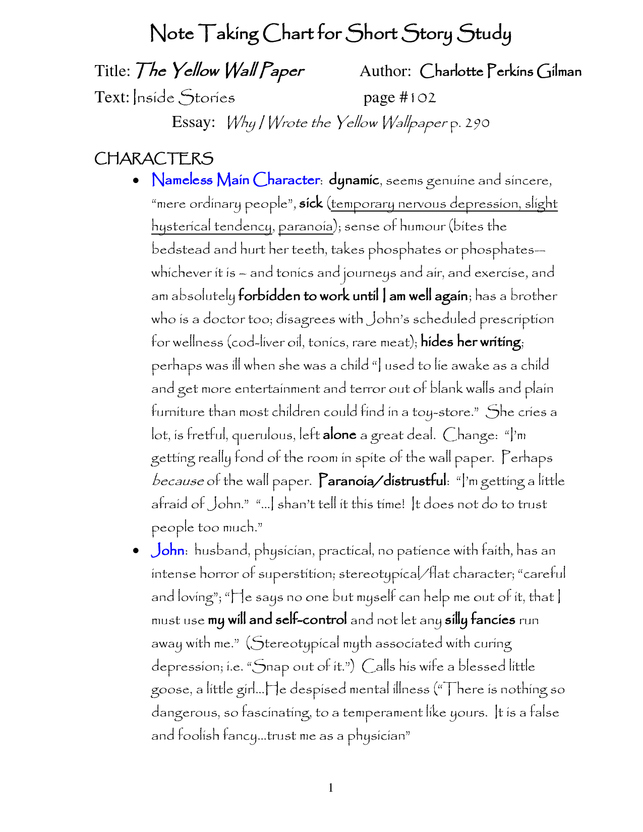 The Yellow Wallpaper Analysis Essay   by   Anti Essays 1275x1650