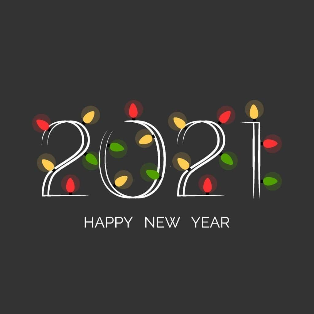Happy New Year 2021 wishes with 2021 wallpaper in 2020 Happy new 1024x1024