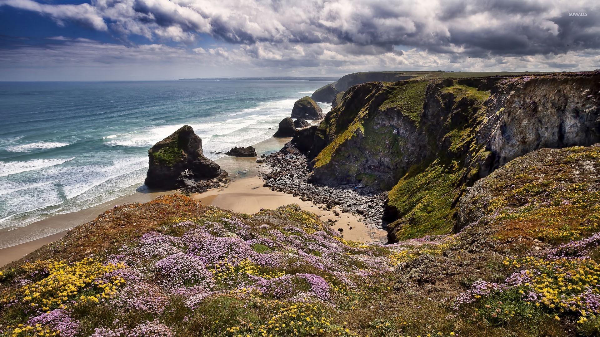 Hidden small beach in Cornwall wallpaper   Beach wallpapers   48223 1920x1080