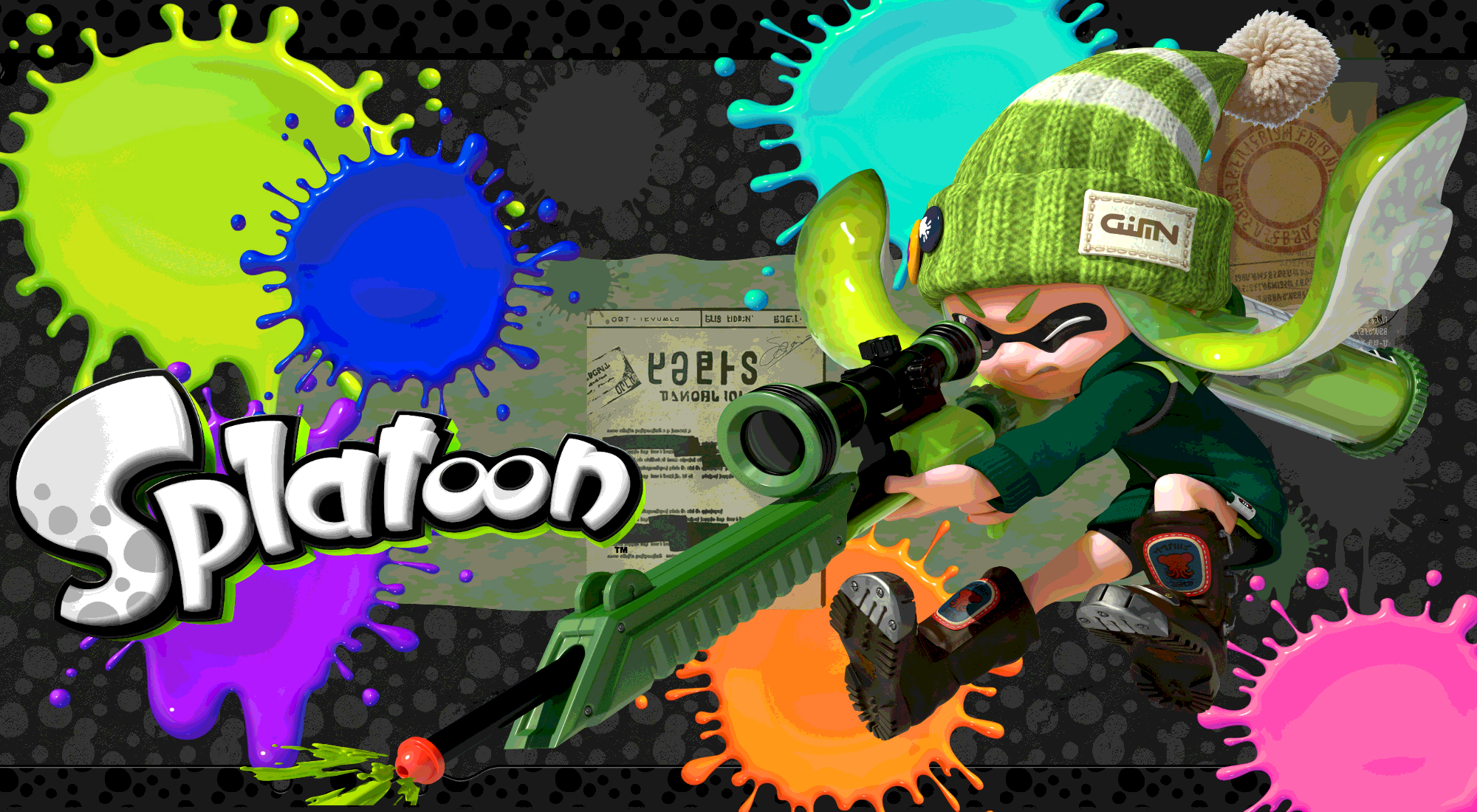 Splatoon   Green Inkling Girl Wallpaper by DaKidGaming 2000x1100