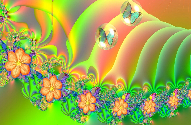 Summer Bloom Fractal Twitter Backgrounds Summer Bloom Fractal Twitter 1450x950