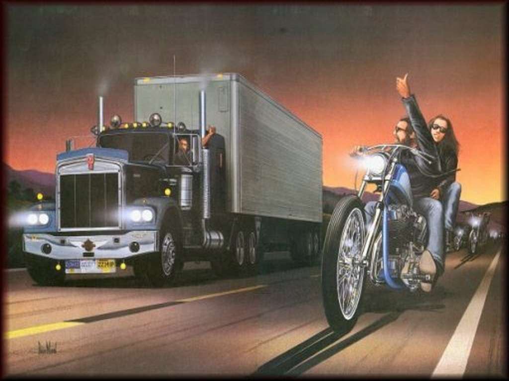 Motorcycle Art Wallpaper 1024x768