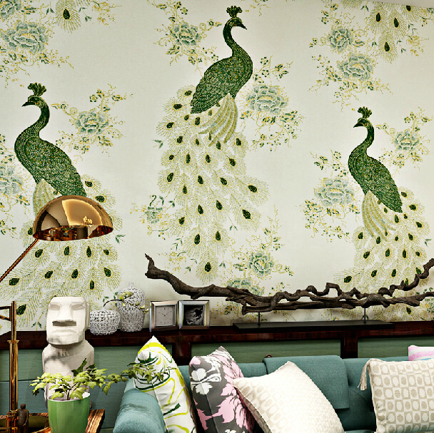 Chinese style wallpaper mural fantasias papel de parede wall papers 608x607