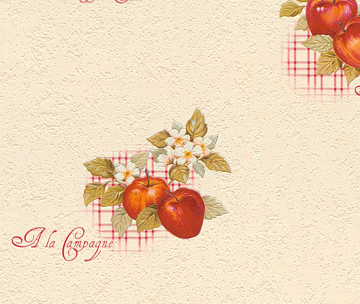 Apples Vinyl Kitchen Wallpaper   824506  Cream   Cut Price Wallpaper 718x608