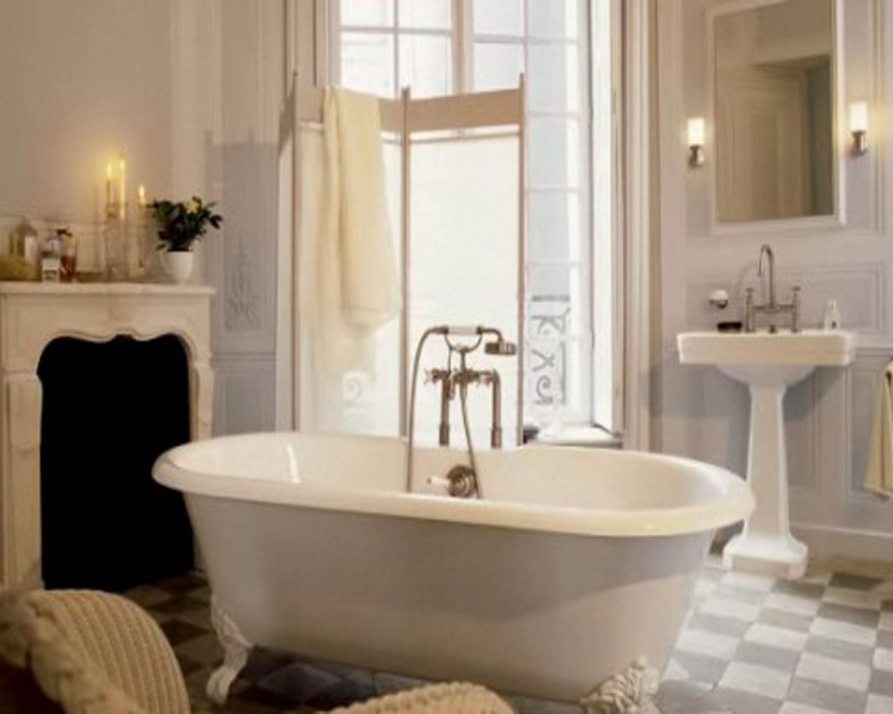 Modern Bathroom Wallpaper Designs   Interiordecodircom 1280x1024