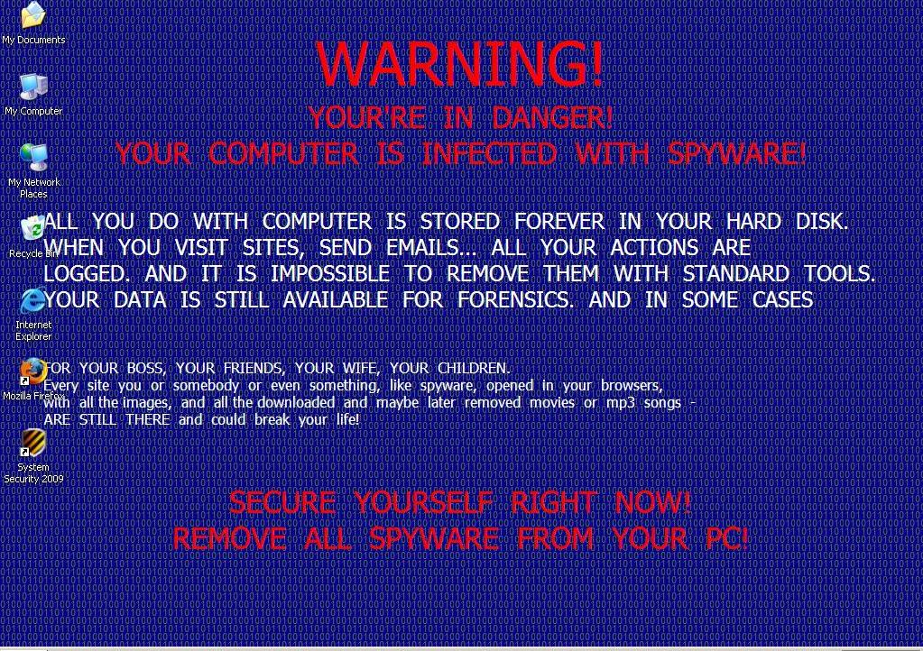 Fake Anti Virus software Writing is on the Desktop Naked Security 1023x722
