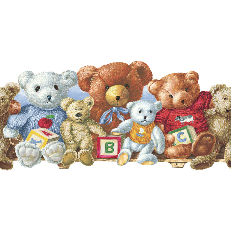 allen roth 5 Teddy Bears Prepasted Wallpaper Border at Lowescom 900x900