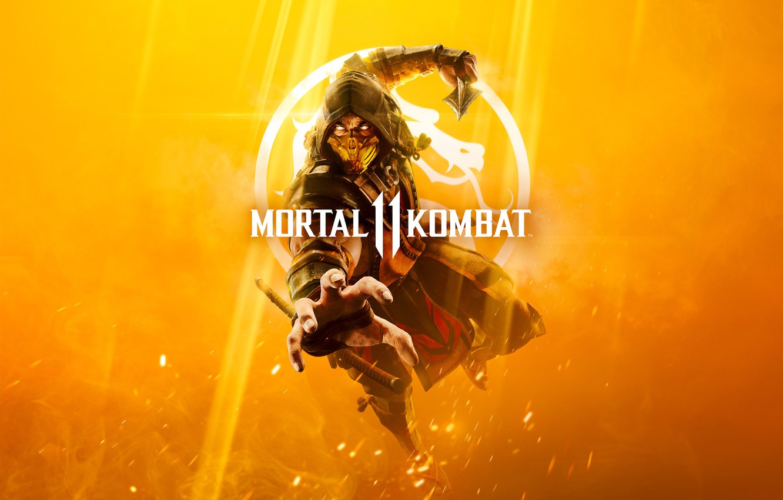 Wallpaper The game Scorpio Fighter Art Mortal Kombat Mortal 1332x850