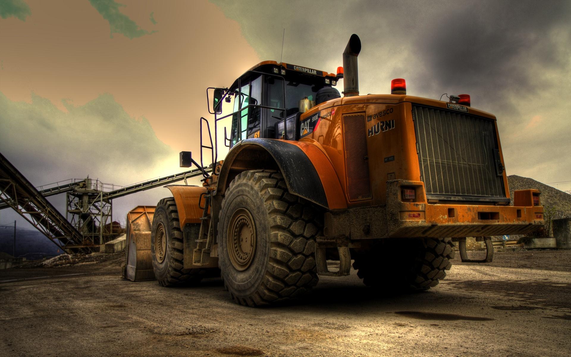 Caterpillar Bulldozer bulldozer car caterpillar gray road truck 1920x1200