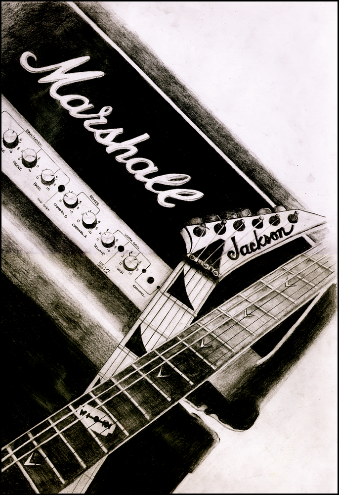 Download Marshall Amp Wallpaper Marshall Amp Guitars Drawing