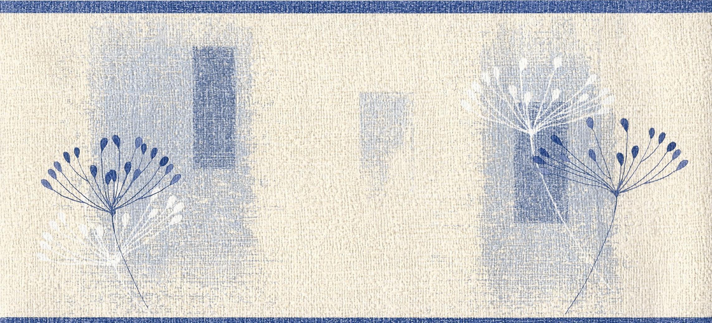 Dandelion Textured Cream Blue Border 97025 by EuroStudio 2286x1038