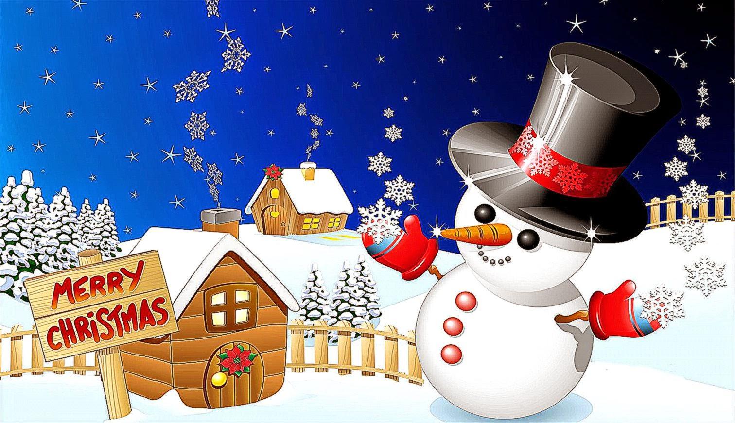 Free Download Cute Snowman Christmas Wallpaper Wallpapers