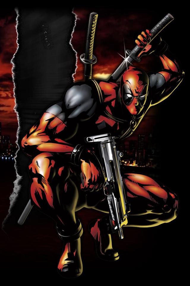 Marvel vs Capcom 3 iPhone wallpaper Deadpool 640x960 640x960