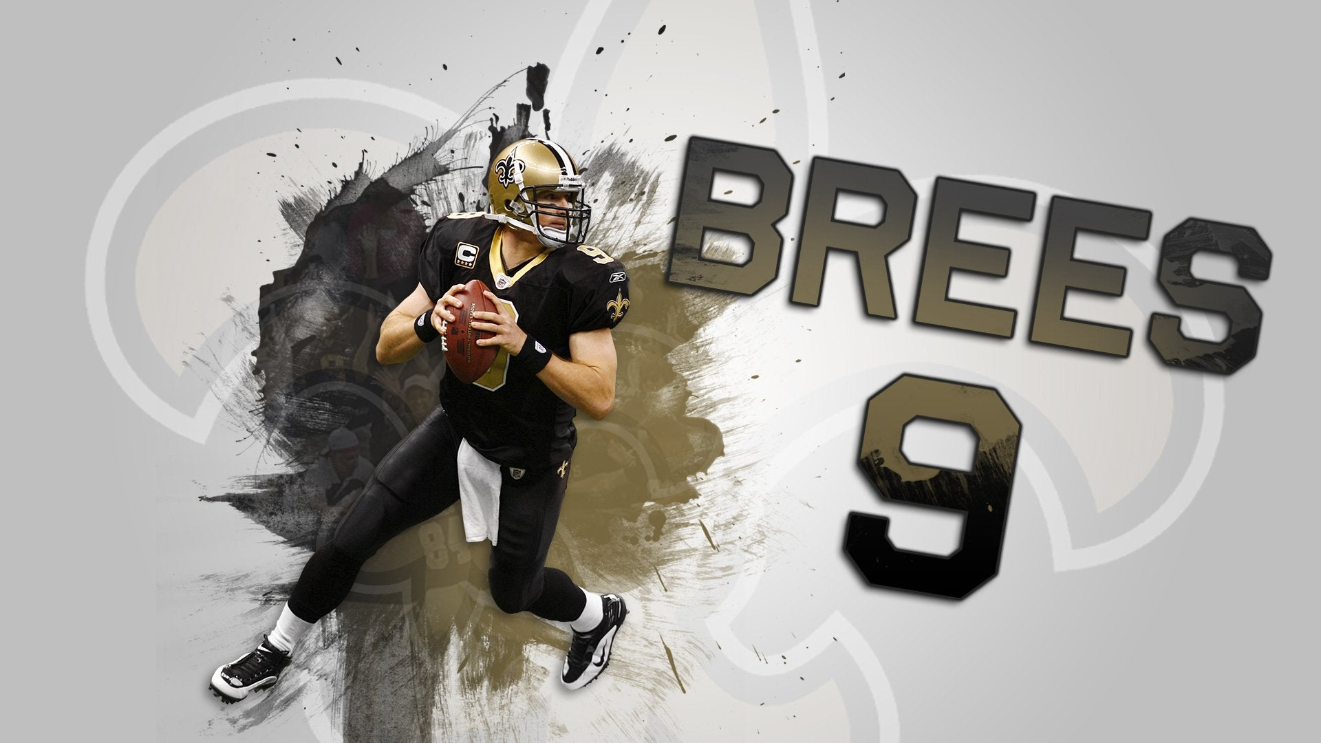 I made a Drew Brees wallpaper Saints 1920x1080
