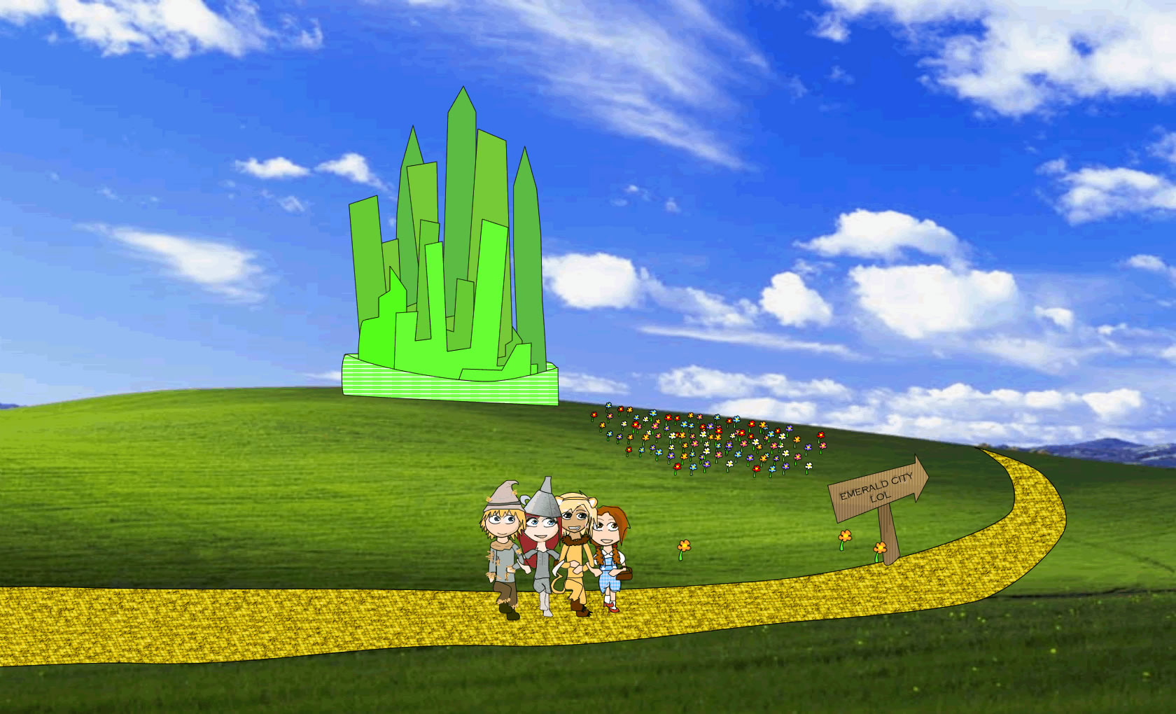 Emerald City Wallpaper To the emerald city by tiger 1680x1020