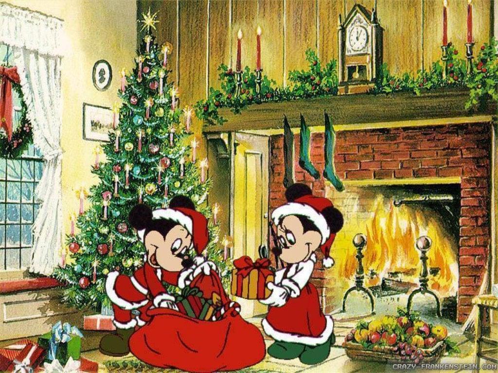 disney christmas wallpaper