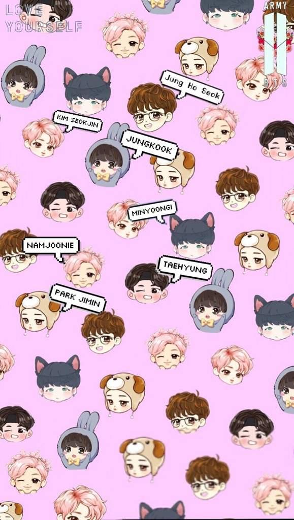 Bts chibi wallpapers if u want an individual member lmk Jeon 579x1024