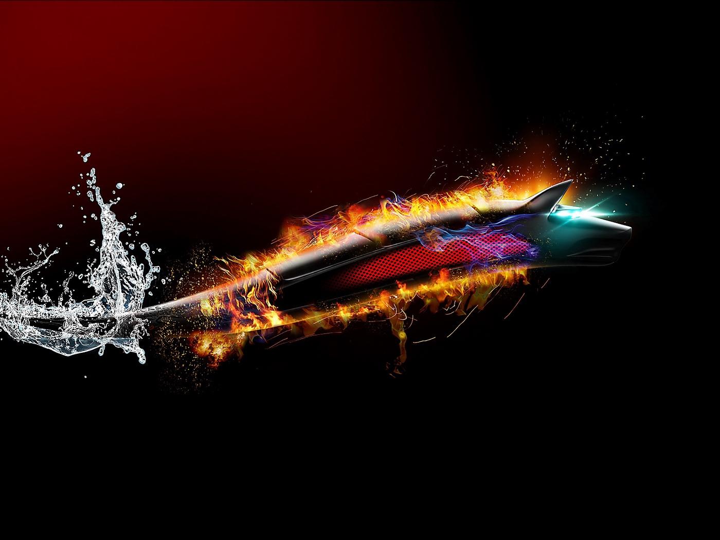 Download wallpaper 1400x1050 dragon dark wolf bitdefender 1400x1050