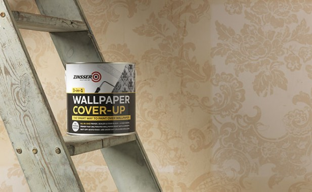 How to paint over wallpaper   Zinsser UK   Specialist paints and 617x380
