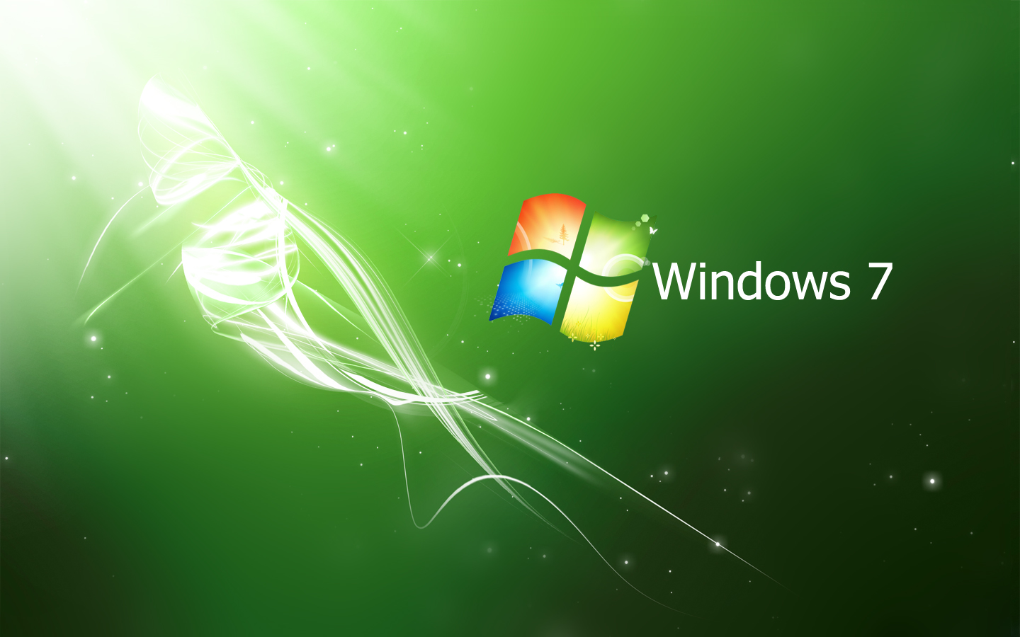 wallpaper Windows 7 Crystal Pack Blue   Green   Red HD 1440x900