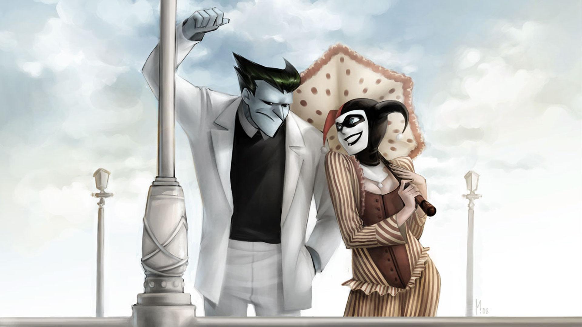 Google themes batman - Batman The Joker Harley Quinn Alternative Art