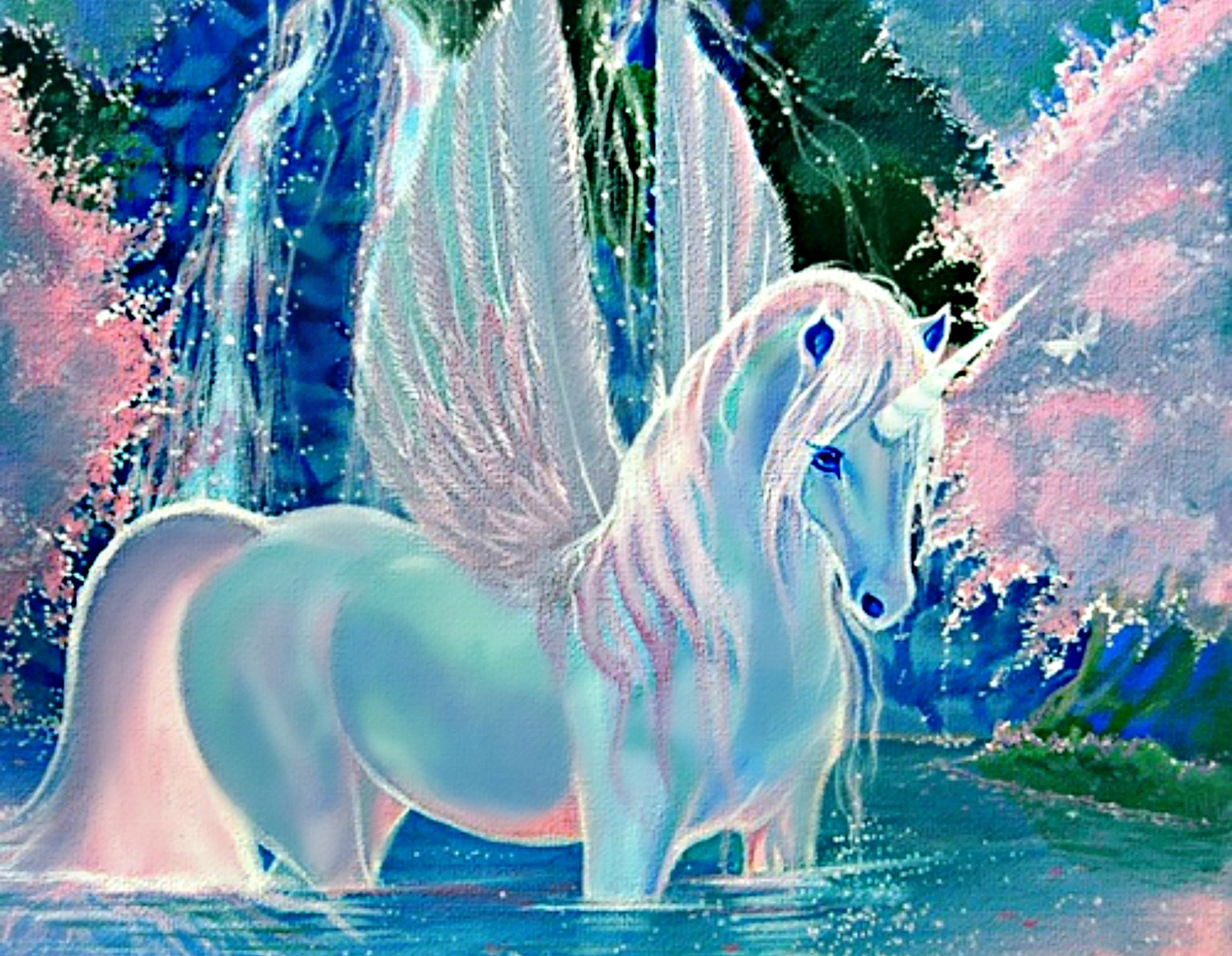 free unicorn wallpaper and screensavers wallpapersafari