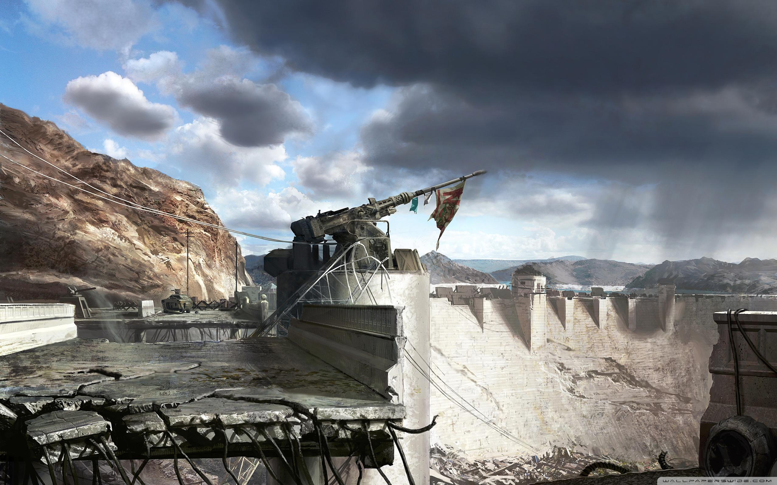 Fallout New Vegas Hoover Dam Concept Art 4K HD Desktop 2560x1600