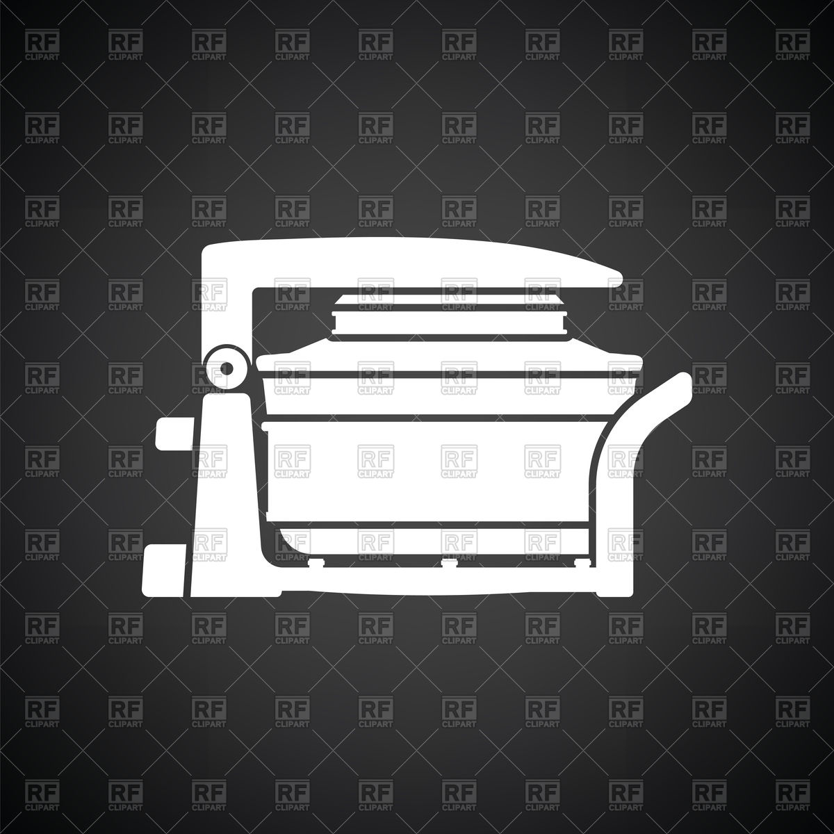 Electric convection oven icon on black background Vector Image of 1200x1200