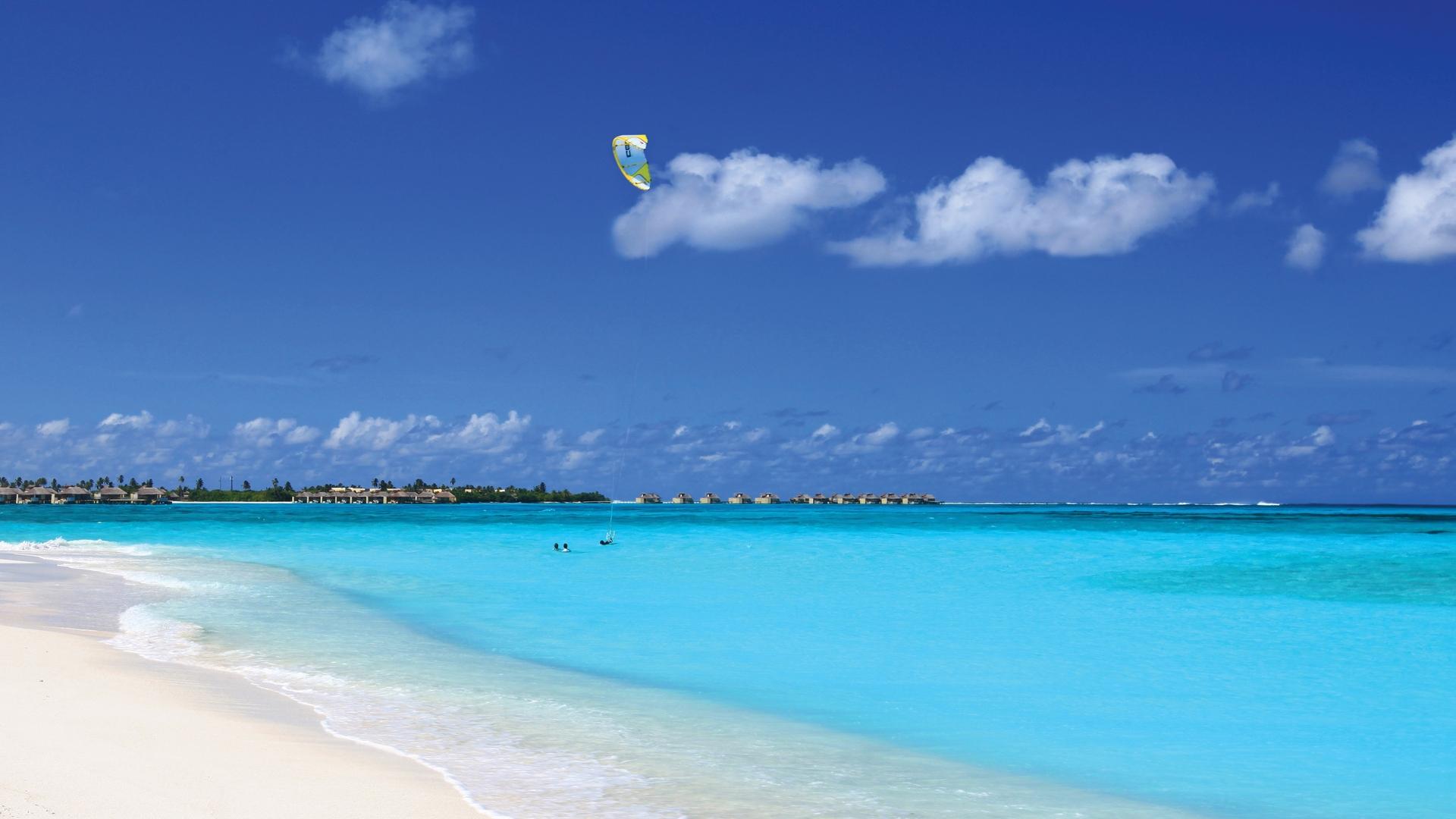 Blue Sky Over the Ocean Desktop Background HD 1920x1080 1920x1080