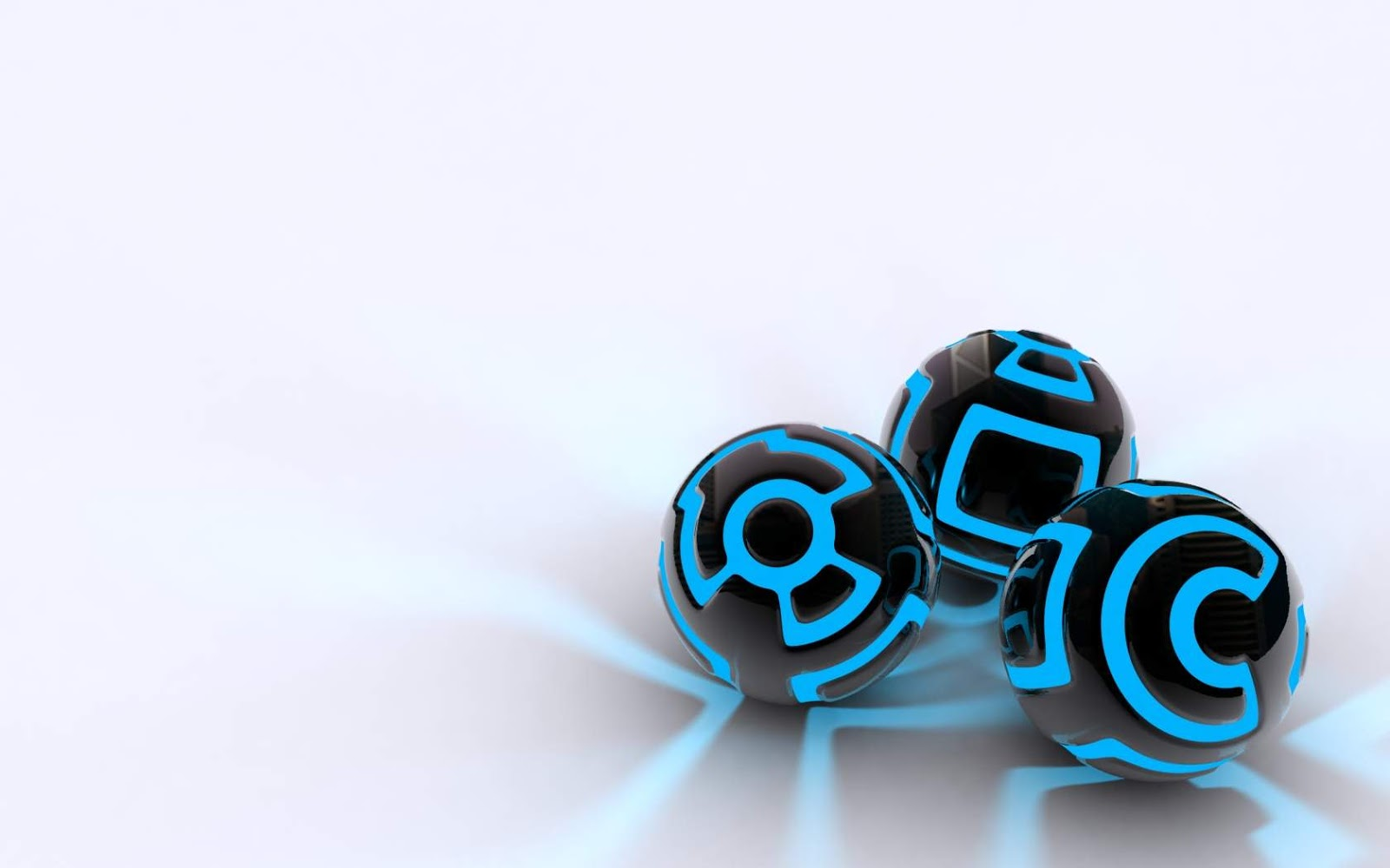 Black and White Wallpapers Black and Blue Orbs White Wallpaper 1600x1000