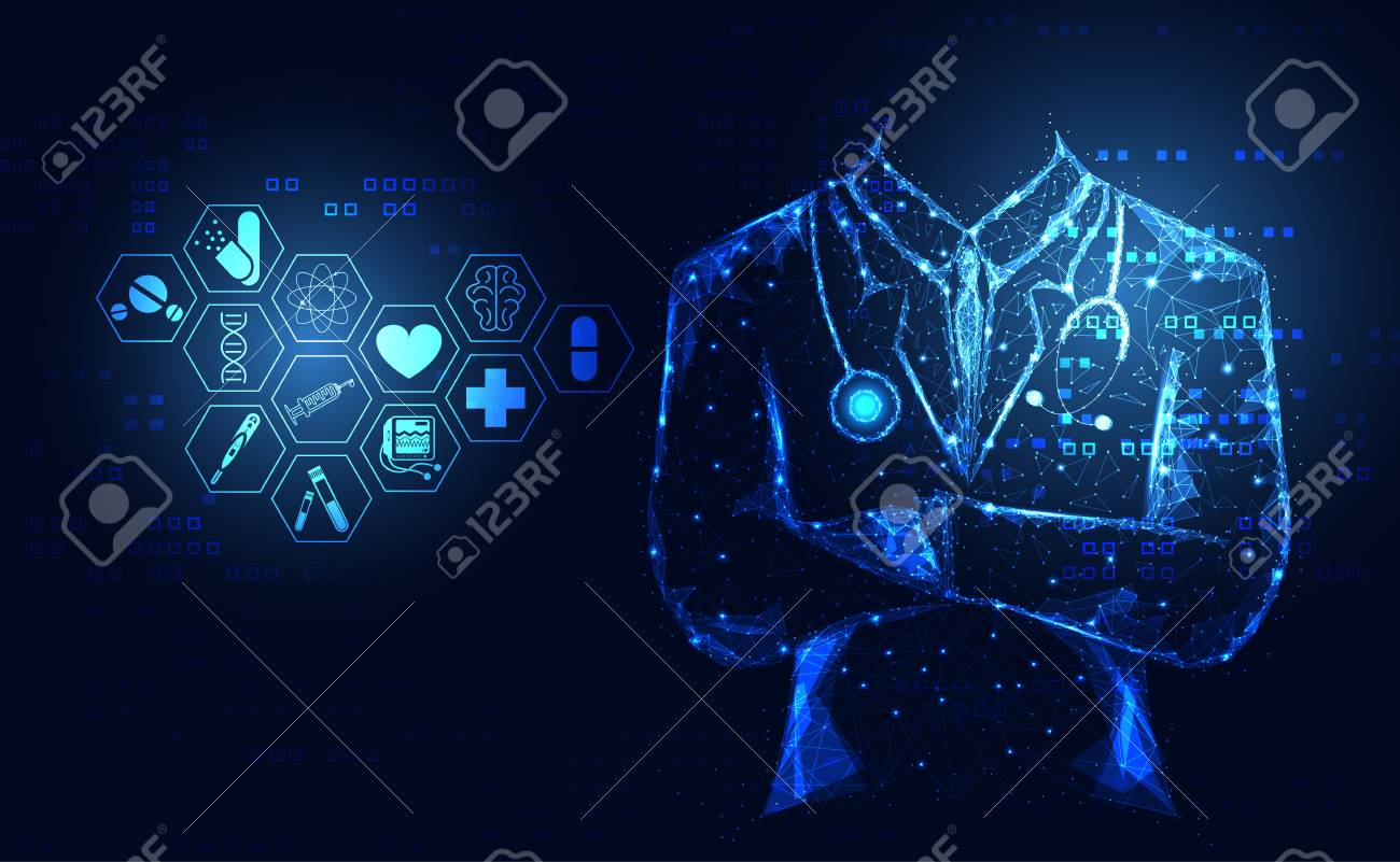 Abstract Health Medical Science Healthcare Icon Digital Technology 1300x801